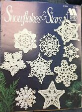 Annie's Attic Snowflakes & Stars Crochet Pattern Book Christmas Ornaments 87S94