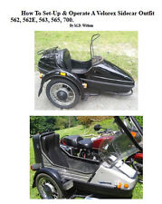 Velorex Sidecar Set Up Manual PDF CD 562, 562E, 563, 565, 700 Motorcycle