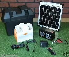 12VOLT DC PORTABLE FAN W SOLAR PANEL & AC CHARGERS, 12V BATTERY, & CAR ADAPTER