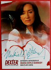 DEXTER - TWO SIGNATURES ON  SAME CARD! - MARIA DOYLE KENNEDY Autograph Card AMD1