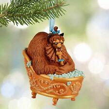 Disney Store THE BEAST BATHING Sketchbook Ornament Beauty And The Beast - Mint