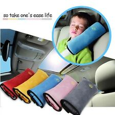Pair of Car Safety Seat Belt Pillow Shoulder Baby Neck Cushion Protect Pad Blue