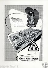 Frankenthaler Porzellan XL Reklame 1956 Frankenthal Werbung Kühnle Kopp Kausch