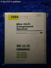 Sony Bedienungsanleitung MHC GV90D /RV900D /RV800D /RV600D (#2984)