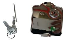 LAMBRETTA PETROL TANK CAP OUTER FLAP COVER WITH KEYS GP CHROME