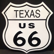 Texas Route 66 Shield Vintage Retro  Steel Sign Garage Bar Studio Wall Decor
