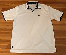 VINTAGE MEN'S NIKE ANDRE AGASSI TENNIS WHITE POLO SHIRT SZ XL RARE