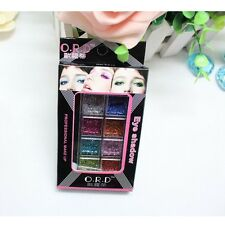 8 Color Makeup Eye Palette Temporary Art Bright Glitter Shadow Dust Tattoos