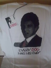 T SHIRT SCARFACE AL PACINO   HOLLYWOOD ETICHETTA UFFICIALE  NUOVA IN BUSTA - L