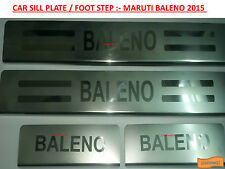 Car Stainless Steel Foot Step Sill Plate Silver Chrome Finishing :- Baleno 2015