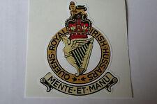 "2 X QUEENS ROYAL IRISH HUSSARS  STICKERS  4"" BRITISH ARMY USA  MILITARY INSIGNIA"