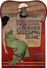 Berlin Theatre - 1900 Advert A3 Art Poster Print