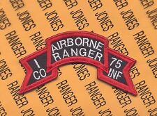 I Co AIRBORNE RANGER 75th Inf Vietnam LRRP LRP 1st Inf Div scroll patch