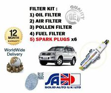 FOR TOYOTA LANDCRUISER 120 4.0 V6 2003  OIL AIR POLLEN FUEL FILTER + SPARK PLUGS