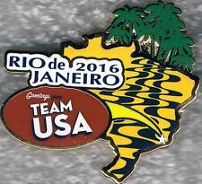 2016 Rio Greetings Road to Rio with Palm Trees USA Olympic Team NOC Pin