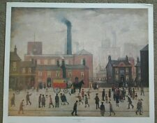 '89 poster print of 1928 London? Mill By L S LOWRY 22X28""