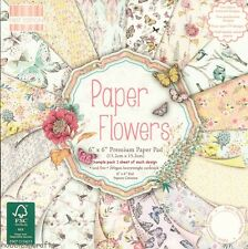 DOVECRAFT PAPER FLOWERS 6 X 6 SAMPLE PACK - NEW - 1 OF EACH DESIGN - 16 SHEETS