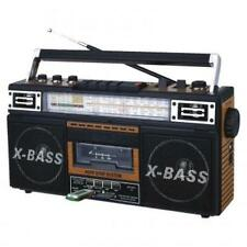 QFX AM/FM/SW1-SW2 4 Band Radio and Cassette to MP3 Converter, and Recorder with