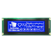 Blue 24064 240x64 Graphic LCD Module Display LCM w/T6963 Controller w/Tutorial