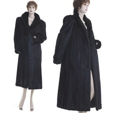 ON SALE! Mint! Forever Fashionable Glam Black Mahogany Real Mink Fur F/L Coat