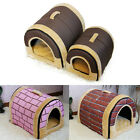 New Soft Pet Dog Bed House Kennel Mat Pad Warm Washable Puppy Cat Cushion