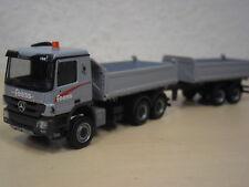 "Herpa - MB Actros `08 Tandem-Kipp-HZ ""Feess - Kirchheim/Teck - Fahrzeug-Nr. 136"""