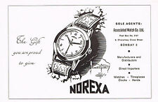 1950's Vintage 1955 Norexa Watch Co. - Paper Print AD