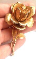 """STUNNING VINTAGE ESTATE CLEAR RHINESTONE GOLD TONE FLOWER 3 1/8"""" BROOCH!!! 7092U"""