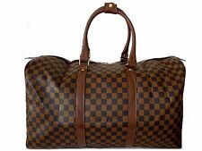 A-SHU XXL LARGE BROWN DESIGNER STYLE CHECKED TRAVEL HOLDALL HANDBAG & STRAP
