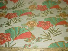 "~20 YDS~REGAL MODERN ""MANGO FAN FLOWER""~EMBROIDERED UPHOLSTERY FABRIC FOR LESS~"