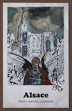 Salvador Dali Vintage Original Alsace French National Railroad Lithograph 69