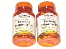 Sundown Evening Primrose Oil Double Strength 1000mg for Women's Health 2 bottles