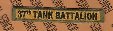 US Army 37th Tank Battalion Armored Armor TAB patch