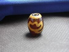 ANTIQUE ANCIENT 20 mm Lotus dZi Mini Bead Agate Old Tibet Napal Luck  Wealth