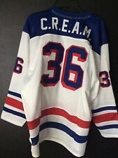 New Size Large Wu Tang Clan Hockey Jersey C.R.E.A.M. #36 Chambers Pure White