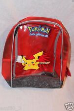 NEW WITH TAGS POKEMON PIKACHU RED  BACKPACK