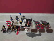 Lego Knights Kingdom Crusader Falcon Lion Wolfpack Horses Cannons Lot Minifigure