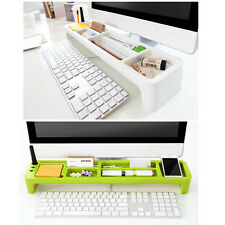 Monitors Desktop Organizer Box Desk Storage Holder Stationery Organizer Tray