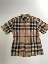 BURBERRY MENS cotton SHORT SLEEVE SHIRT NOVA SIZE S