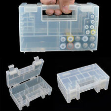 1*Large Translucent Plastic Case Holder Organiser Storage Box For AA AAA battery