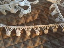 "5yd ANTIQUE-VINTAGE 5/8"" White LACE BISQUE JUMEAU FRENCH DOLL Clothes DRESS TRIM"