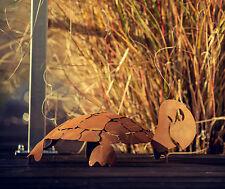 Edelrost Schildkröte groß Garten Dekoration Teich Metall Rost Terrasse Tier