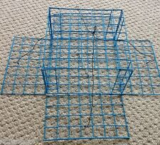PVC Blue Homemade Four Door Crab Trap with bait holder