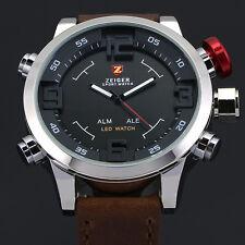 Zeiger Sports Mens Analog & Digital Alarm Chronograph Date Day Wrist Watch + Box
