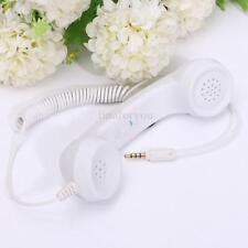 Retro Popular White 3.5mm Mic Phone Handset Telephone For iPhone iPad MAC