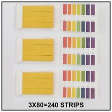 3*80 Strips  Range Indicator Acid Water 1-14 PH Testing Paper Alkaline Litmus