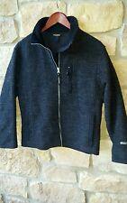 WOOLRICH JOHN RICH & BROS Women's Black Wool Zip Jacket SIZE Small