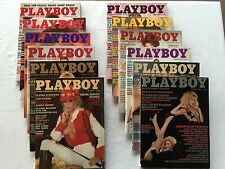 Lot of 12 - 1983 Playboys (JANUARY to DECEMBER)