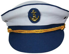 NUOVO yacht Boat Captain Navy mare SAILOR HAT CAP Costume capitano MARINA NAVY