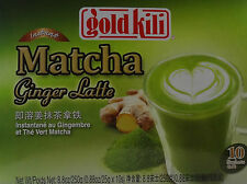 GOLD KILI INSTANT MATCHA GINGER LATTE DRINK SPICE HOT OR COLD FROTHY BEVERAGE